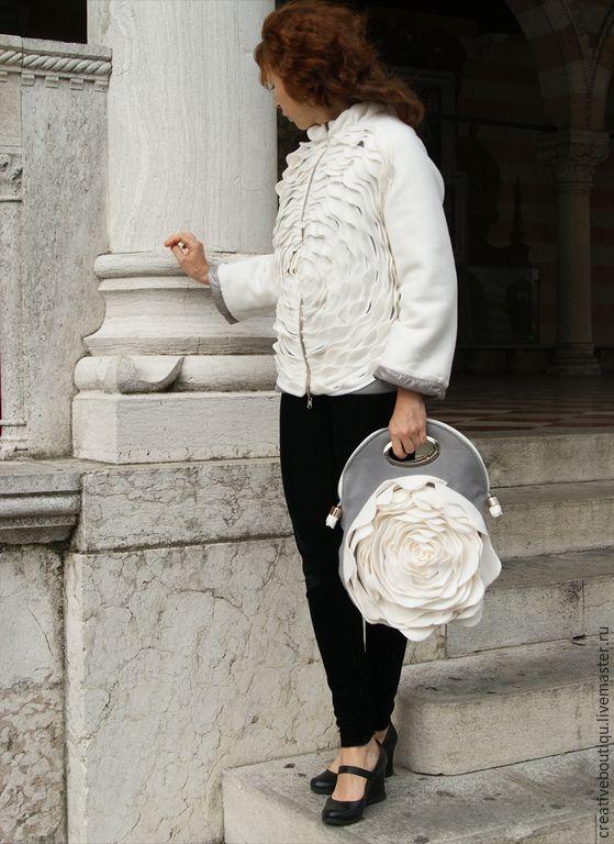 Купить Куртка-полупальто зимнее 42-44 - кремовый, осенняя мода, куртка на молнии