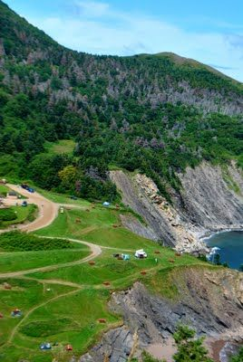 #29 - Camp at Meat Cove on Cape Breton Island. the northern-most tip of Nova Scotia, Canada