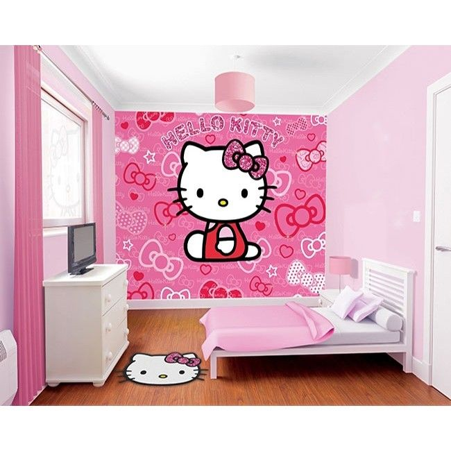 Behang Hello Kitty - Behang - Inrichting & Decoratie | Klein&Fijn.nl
