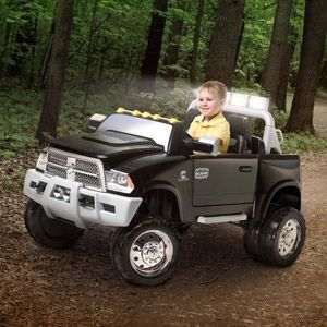 Now you can give a Dodge Ram 3500 with Cummins inside to your kids! Isn't cool?