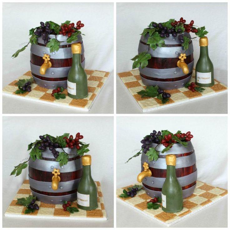 A barrel of wine - Cake by Anka