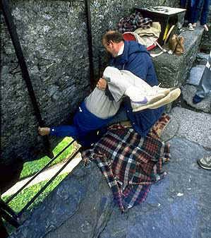 More than 300,000 people come to kiss the Blarney Stone each year, in the hopes of gaining more eloquent speech.