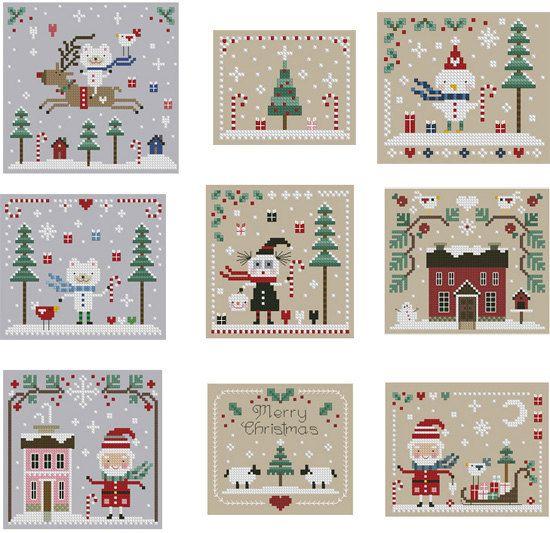2010 Christmas Cross Stitch Collection. $20.00, via Etsy.