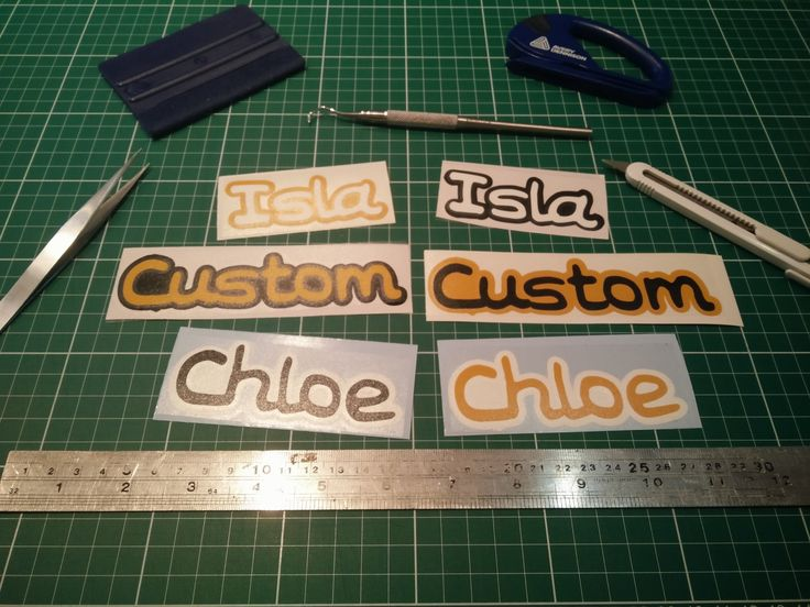 Custom Kids Name Tag Vinyl Sticker / Decal - Double Layer! by FIESDesigns on Etsy