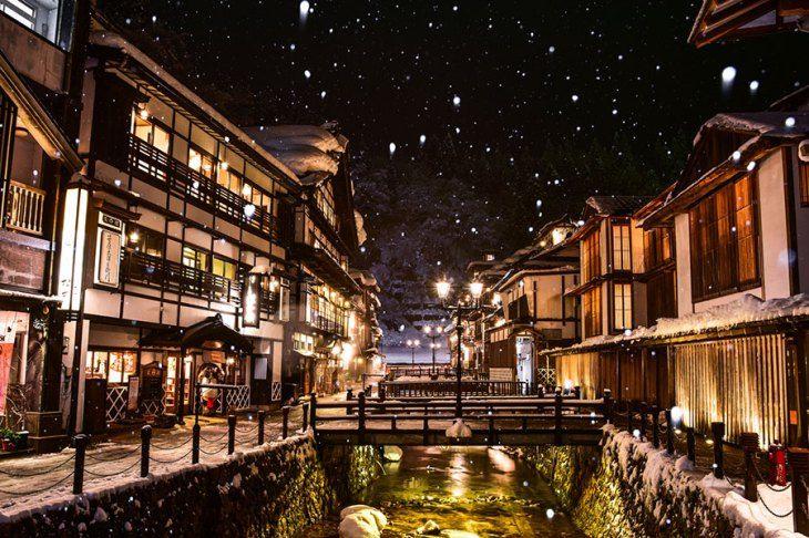 91045 銀山温泉 山形県 Japan Travel Onsen Yamagata