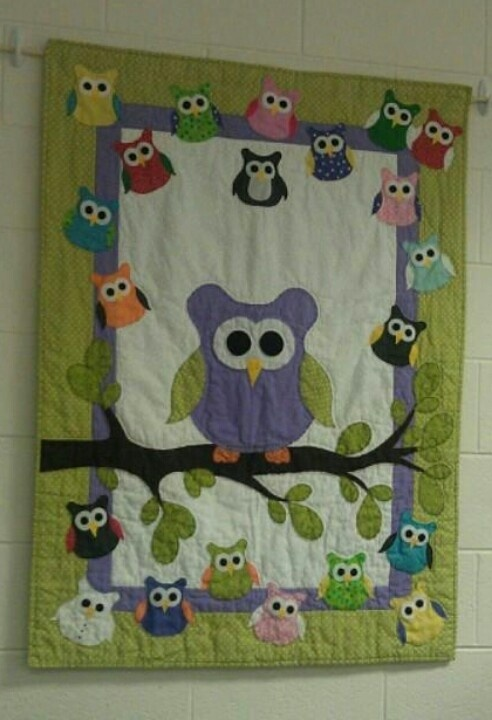 Owl Quilt for Emily's First Grade Classroom.