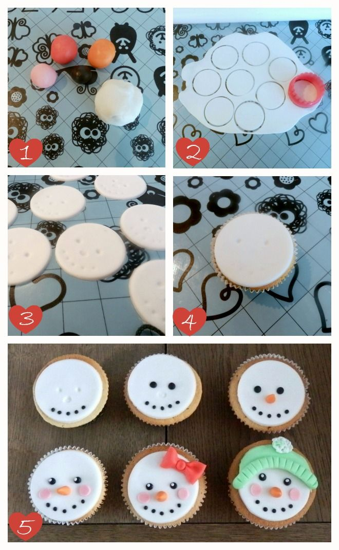 How-to sneeuwpop cupcakes, leuk en gemakkelijk om te maken (how-to cupcakes with the face of a snowman).
