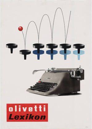 Giovanni Pintori. Olivetti Lexikon Ad. 1954.