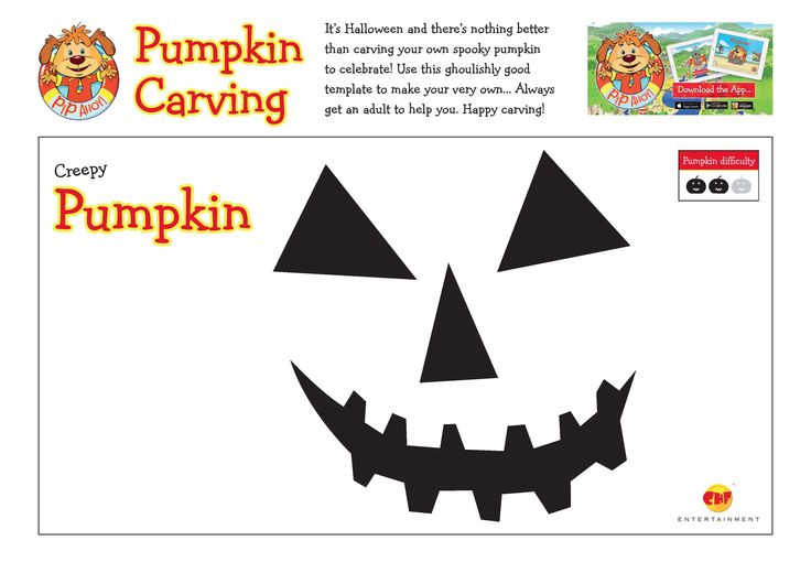 Use these ghoulishly good template to carve your very own pumpkin! Always get an adult to help you! #Halloween #HappyCarving