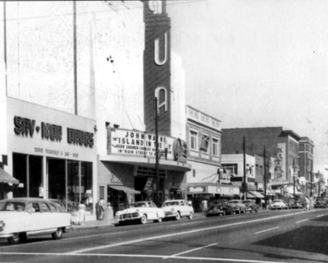 United Artists Theatre 1953 Richmond, Ca..saw Rock Around The Clock here on MacDonald Avenue. My home town. Across the street: Thriftway Drugs sold Charm Suckers for 5 cents and 78 records The Platters!