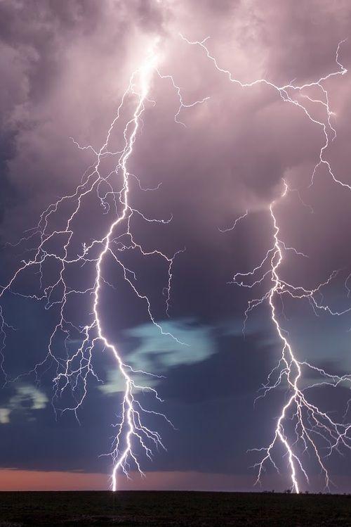 """Lightning storm outside Throckmorton, Texas, by Kelly DeLay"""