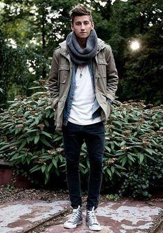 【シンプルミリタリー】M65ジャケット×デニムシャツの着こなし(メンズ) | Italy Web
