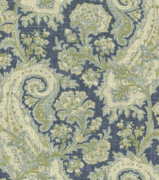 Waverly Upholstery Fabric-Porch Paisley Chambray