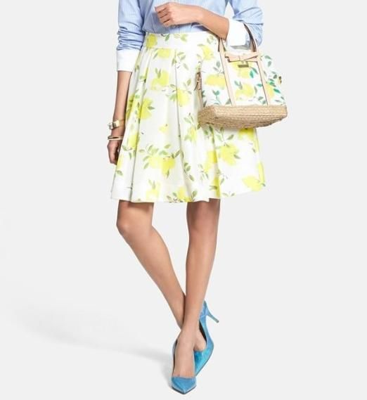 Trend alert! Pleated floral skirt by Kate Spade.