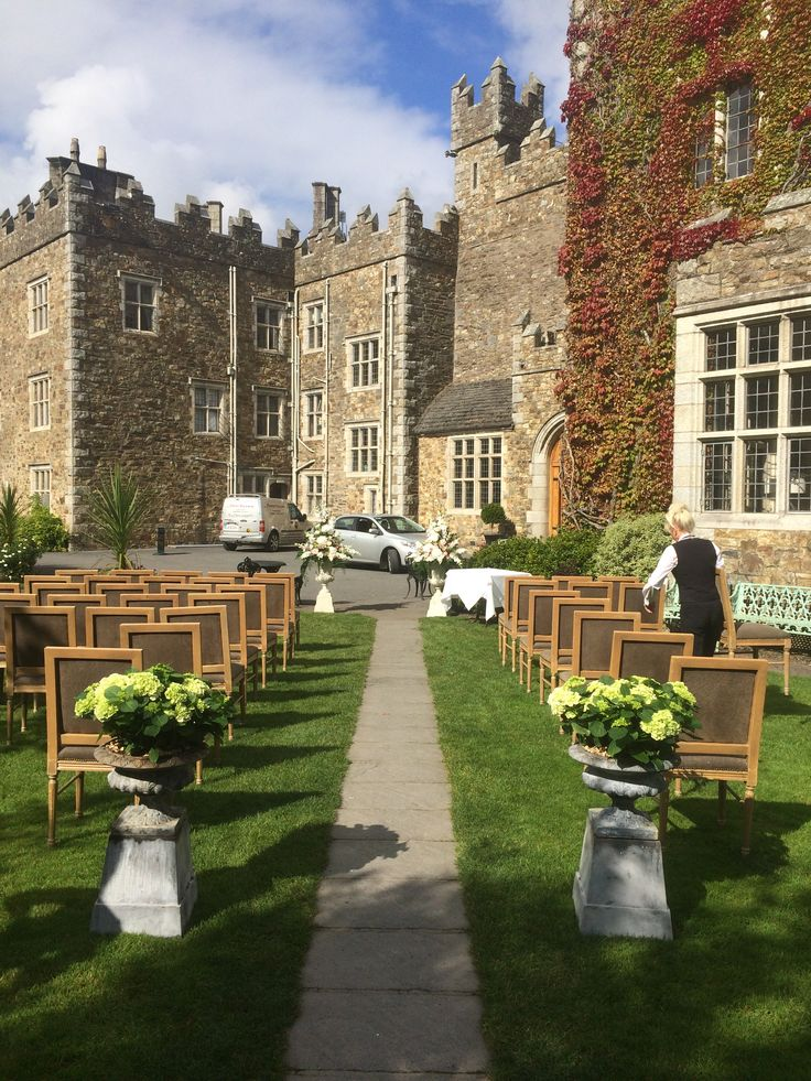 Outdoor Ceremony at Waterford Castle