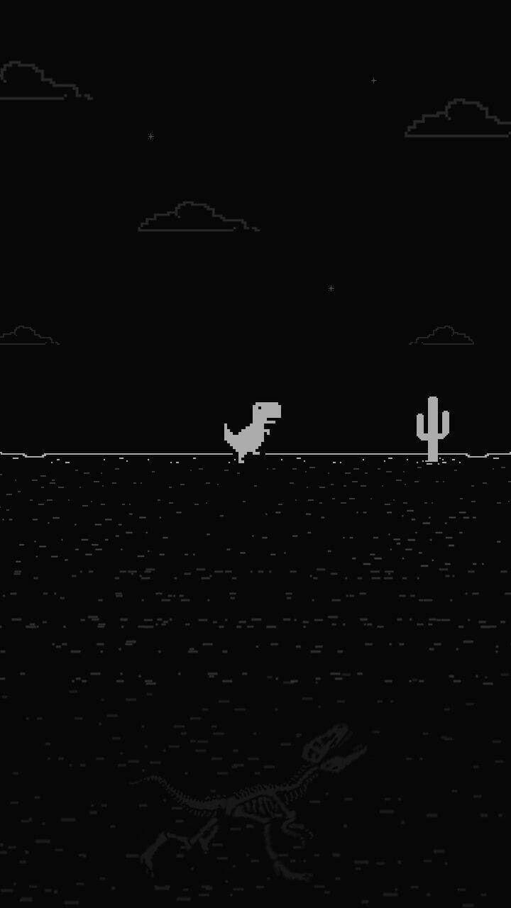 Sin Internet Tema Oscuro Dinosaurio Fondos De Dinosaurios