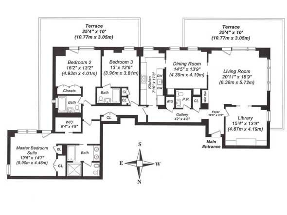 521 best 0 1 images on pinterest apartments frostings for Apartment floor plans new york