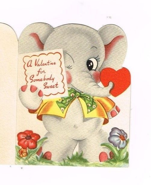 127 best greeting cards images on pinterest vintage cards vintage vintage valentine cards darling elephant 2 cards old hallmarkamerican greetings m4hsunfo