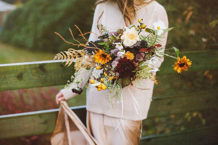 A Sublime Silk Dress and Cashmere Jumper for an Autumn Scottish Castle Wedding | Love My Dress® UK Wedding Blog