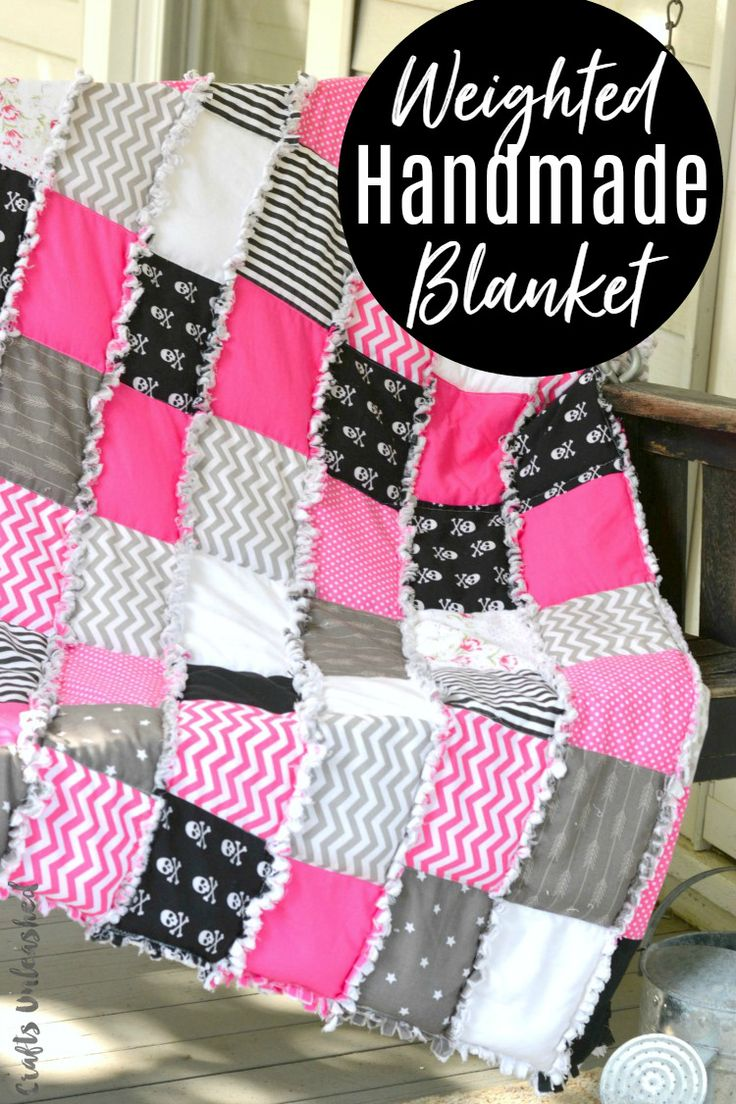 This rag quilt styled DIY weighted blanket tutorial gives you a bit of comforting weight while also fitting right in with your decor or your style!