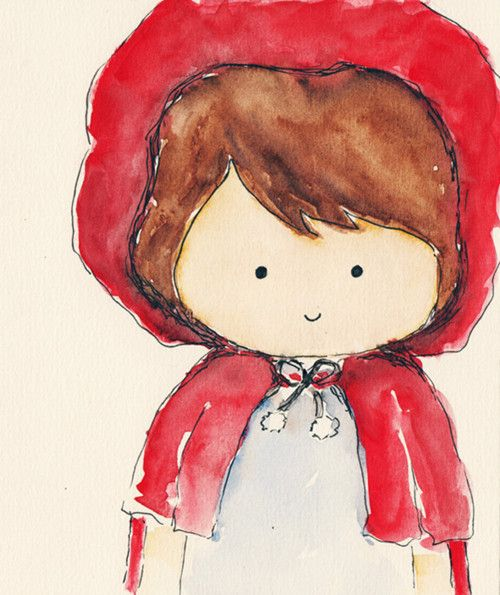 little red riding hood- cute for girl forest room theme. Maybe hang a little red cape on that owl branch hook?: Poor Red, Forest Room, Drawings Paintings Art, Red Riding Hood Room, Decorating Ideas, Forest Classroom, Art Illustration, Room Theme
