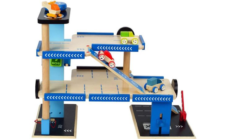Hape Playscapes City Parking Garage with 3 Cars