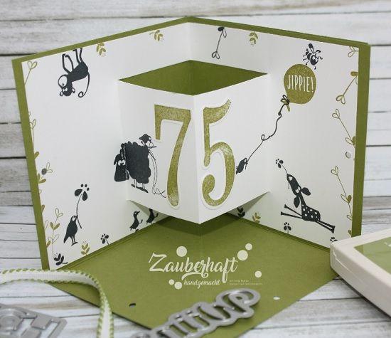Zauberhaft-handgemacht: Ein tolles SAB Set..., Einfach wunderbar, SAB 2018, Cats on appletrees, Geburtstag, Corner Pop-up Card