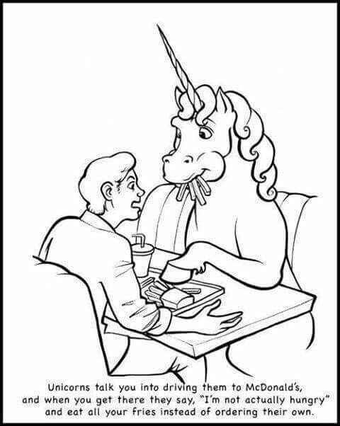unicorns are real jerks - Unicorns Are Jerks Coloring Book