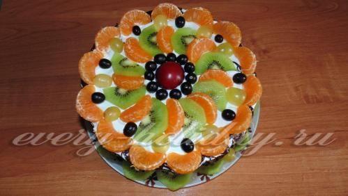 Торт «Колибри» с фруктами