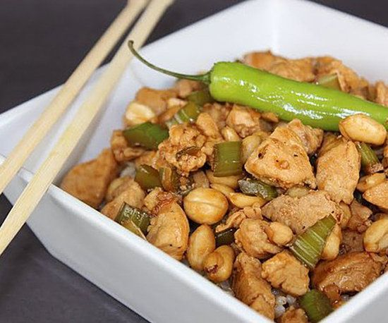 Kung Pao Chicken: The favorite Chinese takeout dish gets a healthy makeover: reader Dara8182's recipe for healthy kung pao chicken has all the right ingredients and, at 276 calories per serving, just the right calorie count.
