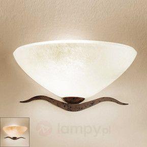 Półokrągła lampa ścienna Samuele styl dworkowy