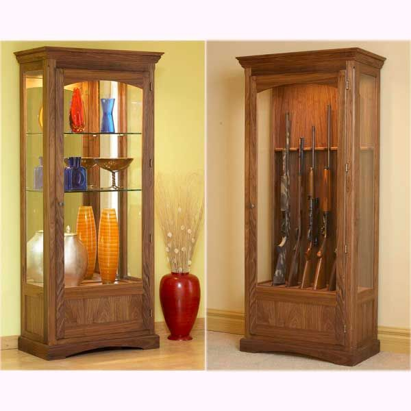 Gun Display Cabinet Plans - Downloadable Free Plans