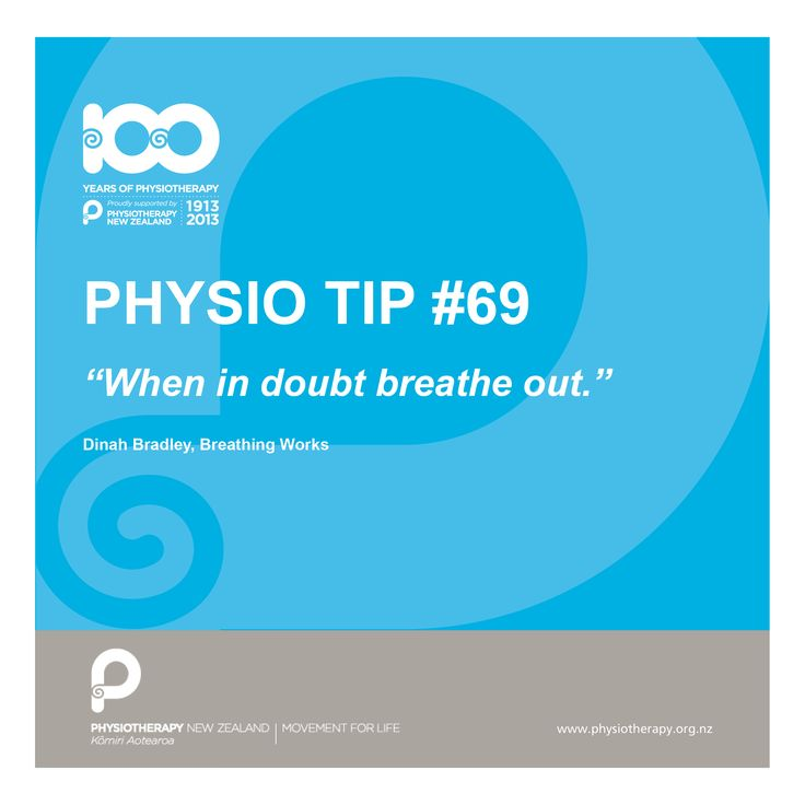 #physio tips when in doubt breathe out