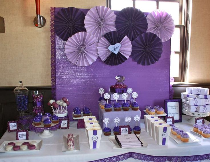 "Purple and Gold Theme Classroom | Bridal/Wedding Shower ""Purple Bridal Shower"" 