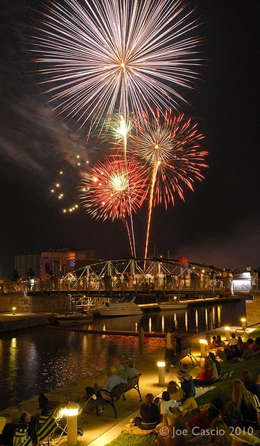 Wow! Fourth of July fireworks at Canalside