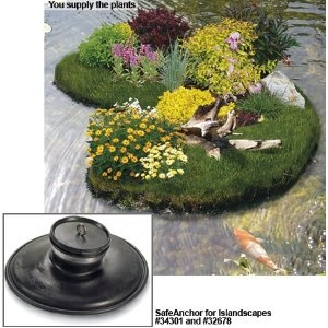 Pond Plants. Island Scapes, Island Ecosystems For Ponds And Water Gardens.  Island Scapes