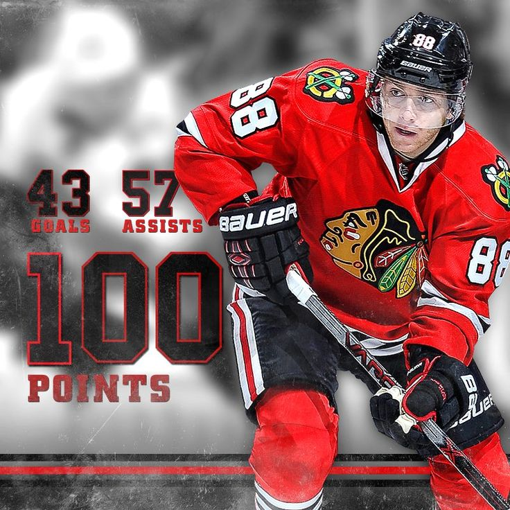 A hat trick for Patrick Kane's 100th point of the season! #Blackhawks