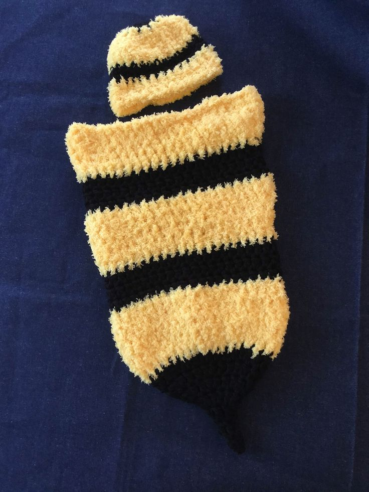A personal favorite from my Etsy shop https://www.etsy.com/ca/listing/509034566/bee-baby-blanket-cocoon-and-hat