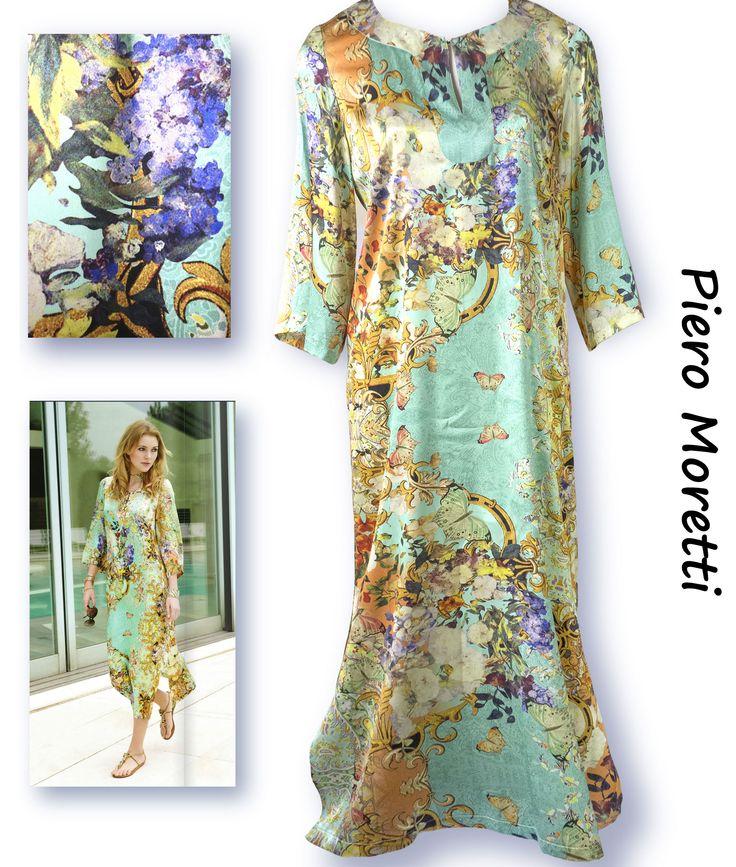 Летнее платье с подкладом для полных женщин  Коллекция Piero Moretti, Лето 2015  Код: 2878  Артикул: 196 05  Состав ткани: 95% шелк, 5% эластан  Размеры: 50  Цвет: желтый салатовый  Цена: 27000 руб.  Богатое платье для торжественного случая. Изумительный рисунок, вместе с невесомым шёлком сбрасывает килограммы и годы. Прекрасный выбор для «мамы невесты».