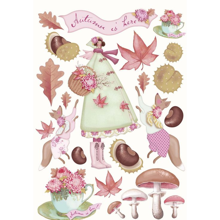 tilda paper cutouts | tilda autumn garden cut out € 4 49 comment 13 decoupage papers a4 ...