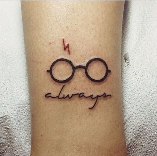 Imagen de harry potter, tattoo, and always