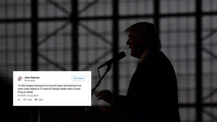 Former missile silo operator goes ballistic about Trump in 20 tweetsJohn Noonan posted 20 worrying tweets about Trump Wednesday.  Image: RJ Sangosti/The Denver Post via Getty Images/Twitter  By Tim Chester2016-08-03 18:34:03 UTC  A former nuclear launch officer has let loose a stinging volley of tweets at Donald Trump after reports that the Republican presidential candidate asked a foreign policy expert why the U.S. cant launch nuclear weapons.  John Noonan who once had a finger on one of…