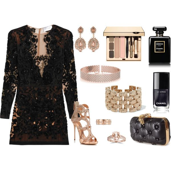 How to...Little Black Dress Chic by vicky-angelidou-pappas on Polyvore featuring Zuhair Murad, Giuseppe Zanotti, Benedetta Bruzziches, Valentino, Allurez, Carolee, Bliss Diamond, Tiffany & Co. and Chanel