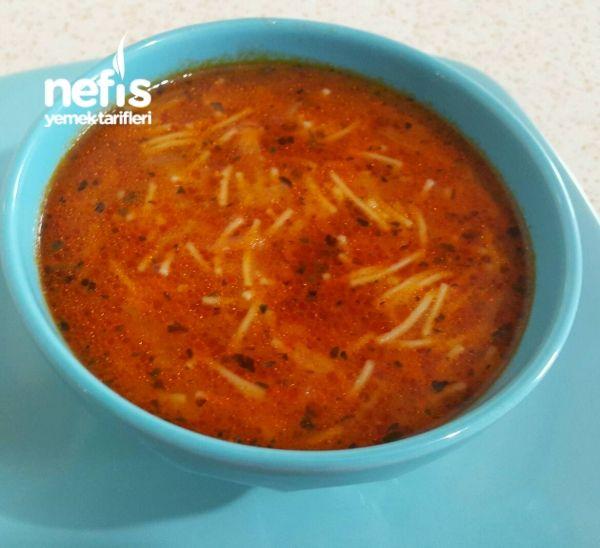Et Suyuna Sebzeli Şehriye Çorbası
