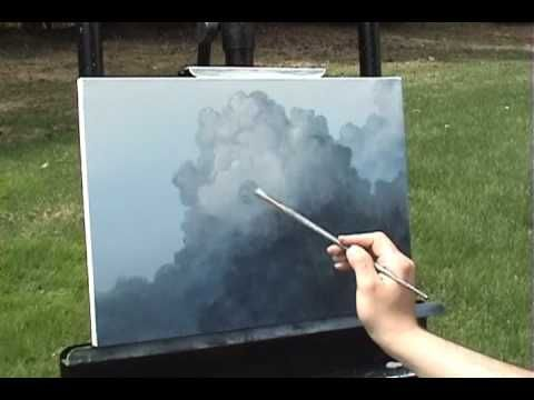 Big Puffy Clouds time lapse speed painting in acrylic by Tim Gagnon http://www.timgagnon.com