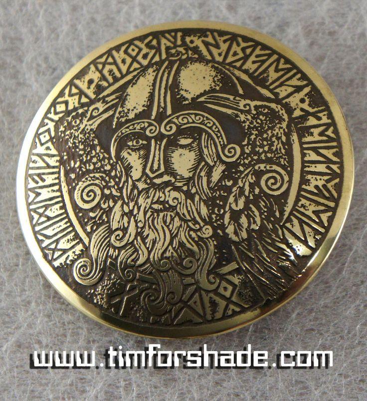 Odin brass belt buckle by TimforShade on DeviantArt