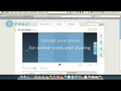 With PreziDesktop3 you can edit and create prezis offline. You can download prezis to a portable format for conferences, or a .pez format for further editing. You can also upload your offline prezis to your online account library.