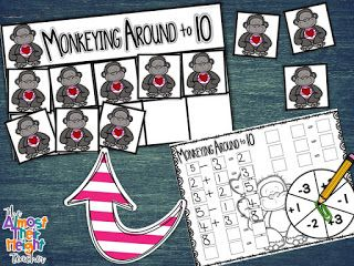 Tens Frame addition and subtraction game for your math centers.  A great way to practice counting and adding and subtracting while having fun.  I love using these games in my classroom and even better my class are learning while they think they are playing!