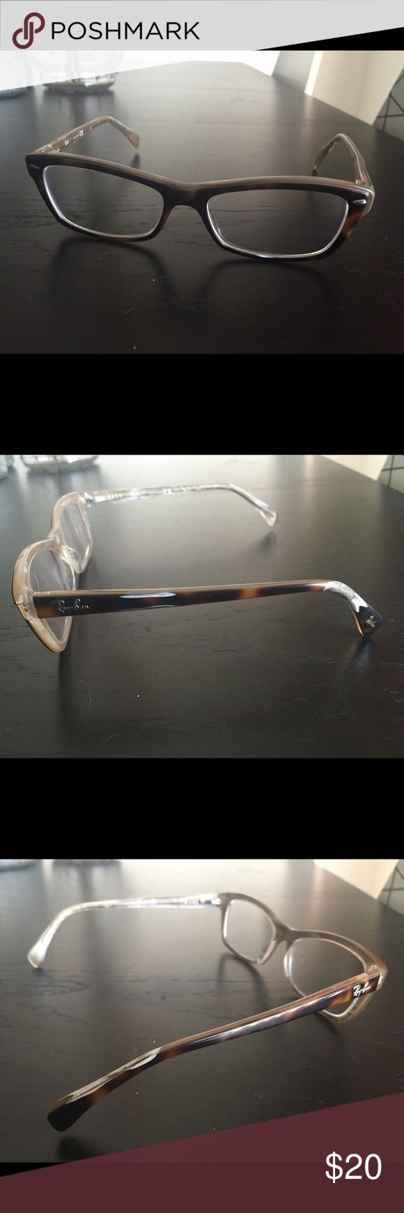 Ray ban prescription glasses Prescription glasses. Both ends of temple tips are damaged. Ray-Ban Accessories Glasses