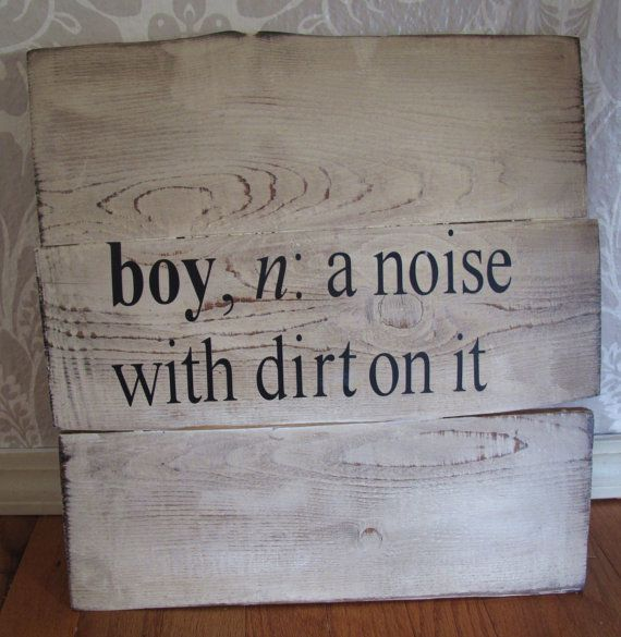 Little Boy Definition Reclaimed Wood Distressed Sign Wall Decor on Etsy, $29.00.....=) lmfao